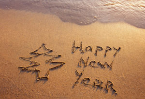 Happy New Year on the Beach